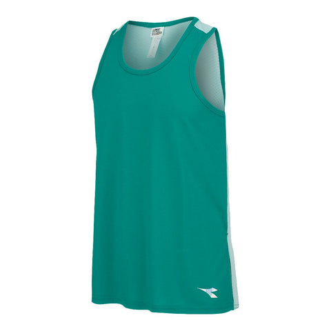 DIADORA GIRLS' SPLIT MUSCLE TANK EMERALD