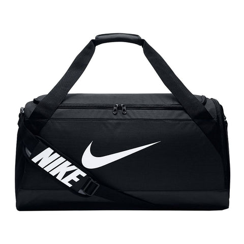 NIKE BRASILIA MEDIUM DUFFEL BAG BLACK/WHITE
