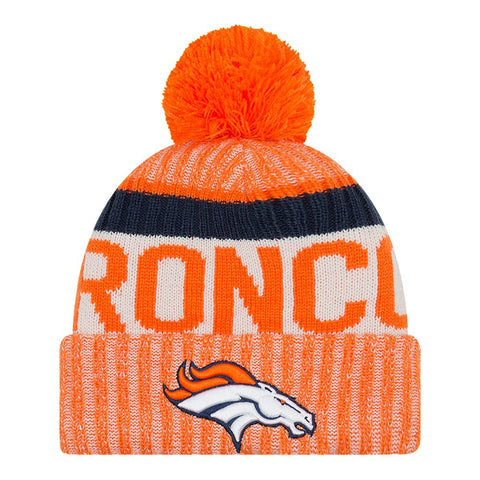 NEW ERA DENVER BRONCOS 2017 OFFICIAL SPORT KNIT HAT