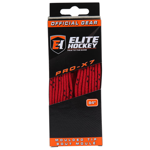 ELITE PRO X7 HOCKEY SKATE LACES RED 84 INCH