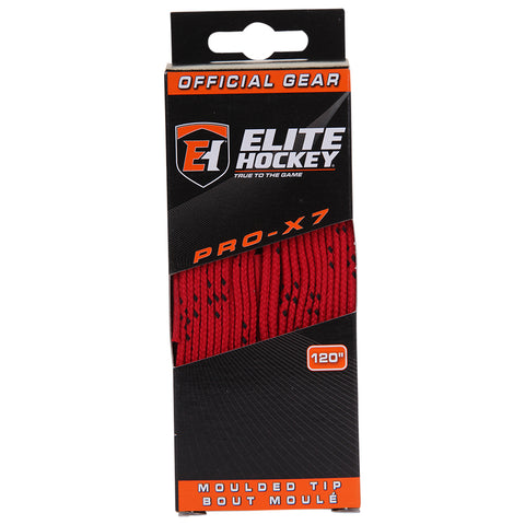 ELITE PRO X7 HOCKEY SKATE LACES RED 120 INCH