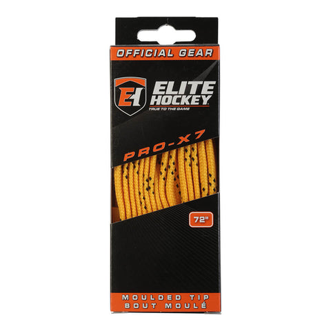ELITE PRO X7 SKATE LACES YELLOW 72 INCH