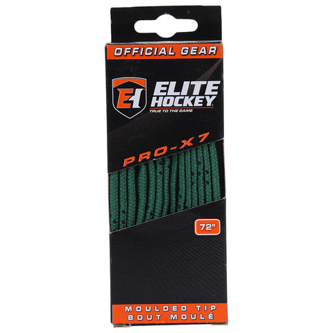ELITE PRO X7 HOCKEY SKATE LACES GREEN 72 INCH