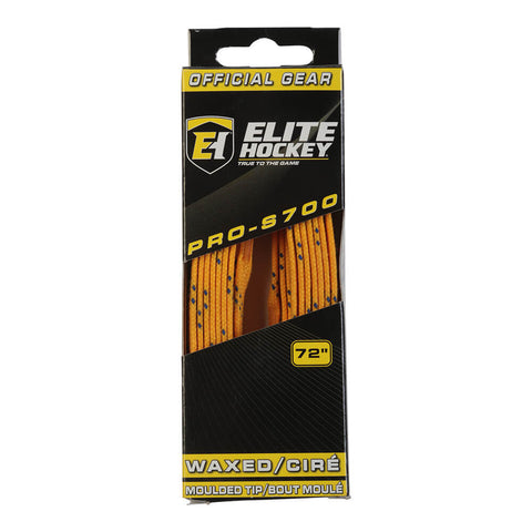 ELITE PRO S700 WAX SKATE LACES YELLOW 72 INCH