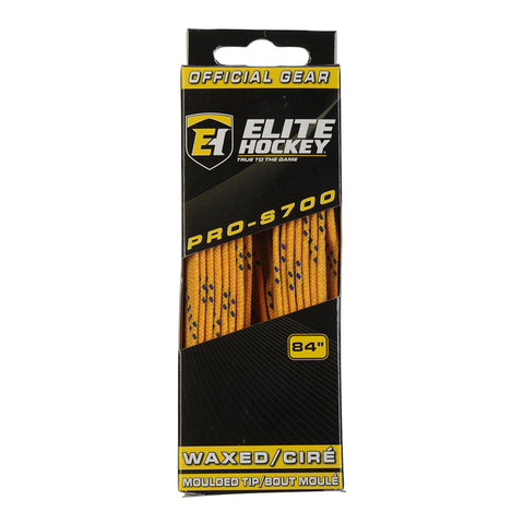 ELITE PRO S700 WAX SKATE LACES YELLOW 84 INCH
