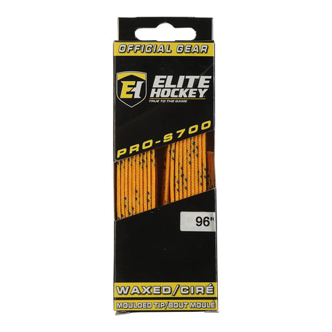 ELITE PRO S700 WAX SKATE LACES YELLOW 96 INCH