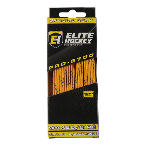 ELITE PRO S700 WAX SKATE LACES YELLOW 120 INCH