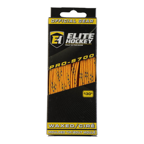 ELITE PRO S700 WAX SKATE LACES YELLOW 130 INCH
