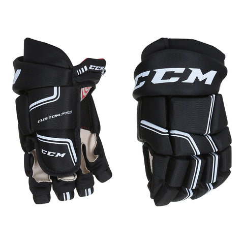 CCM QLT SR HOCKEY GLOVES BLACK/WHITE