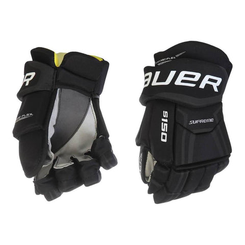 BAUER SUPREME S150 SR HOCKEY GLOVES BLACK