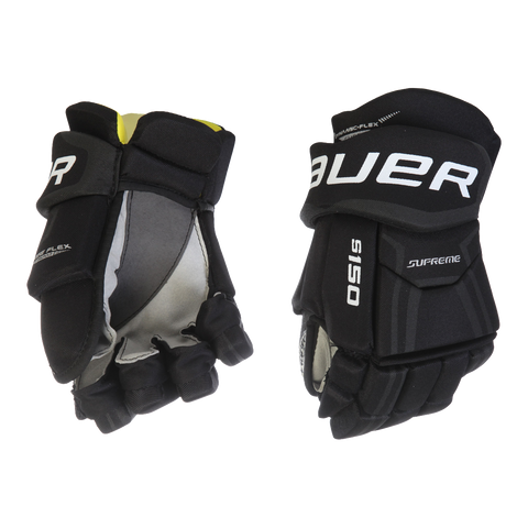 BAUER SUPREME S150 JR HOCKEY GLOVES BLACK