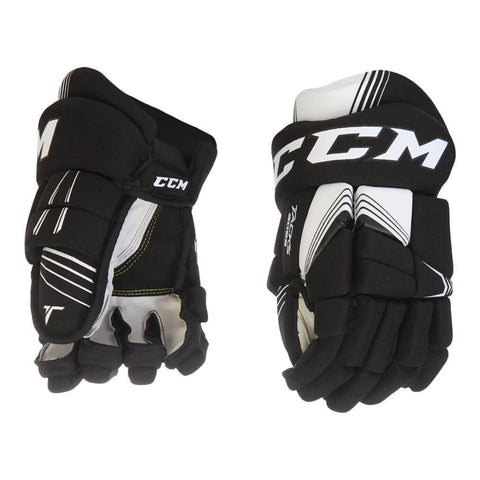 CCM TACKS 3092 JR HOCKEY GLOVES BLACK/WHITE