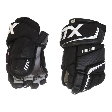STX STALLION 500 JR HOCKEY GLOVES BLACK/WHITE