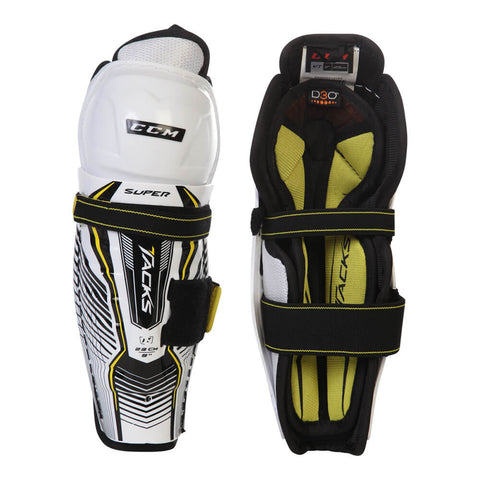 CCM SUPER TACKS YTH SHIN GUARDS