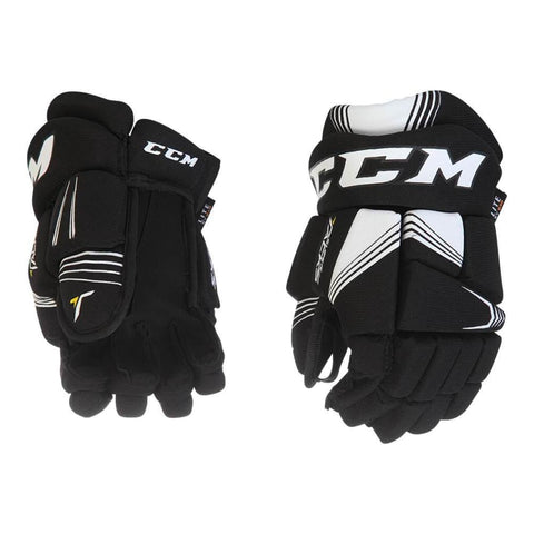CCM SUPER TACKS YTH HOCKEY GLOVES BLACK/WHITE