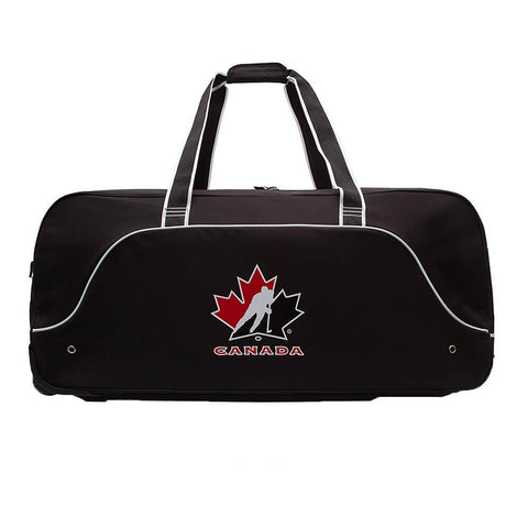 HOCKEY CANADA 36 INCH WHEEL HOCKEY BAG BLACK SIDE