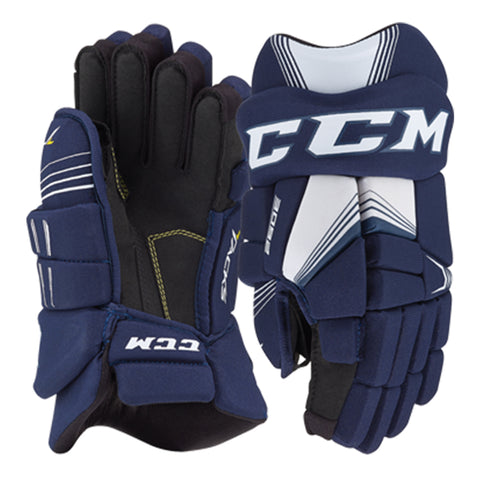 CCM TACKS 3092 JR HOCKEY GLOVES NAVY