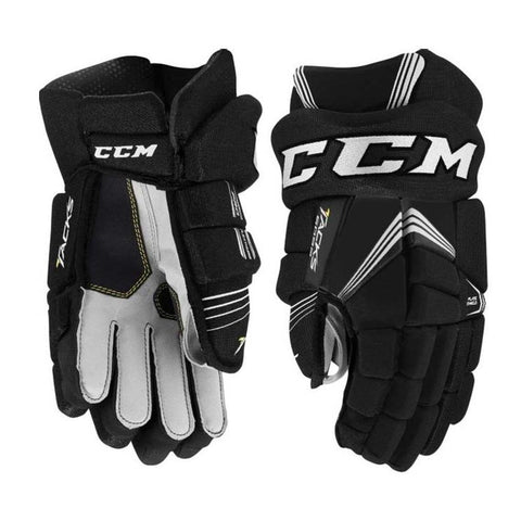 CCM TACKS 5092 JR HOCKEY GLOVES BLACK/WHITE