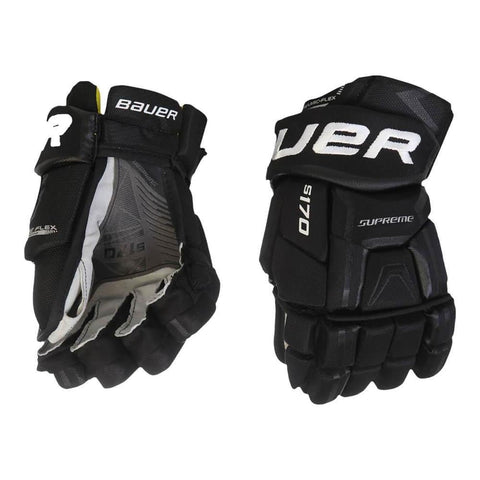 BAUER SUPREME S170 SR HOCKEY GLOVES BLACK