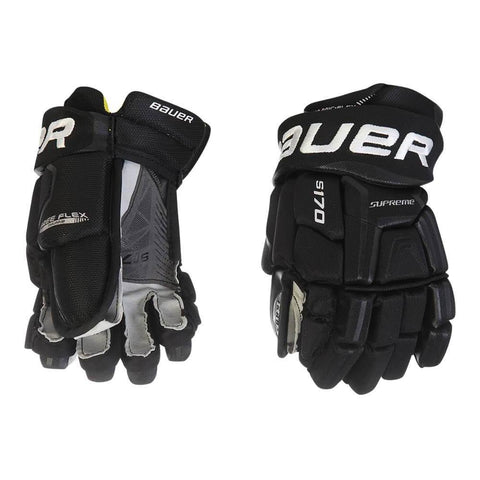 BAUER SUPREME S170 JR HOCKEY GLOVES BLACK