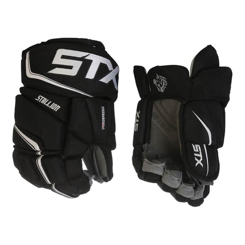 STX STALLION 300 SR HOCKEY GLOVES BLACK/WHITE