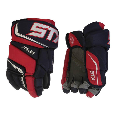 STX STALLION 300 SR HOCKEY GLOVES NAVY/RED