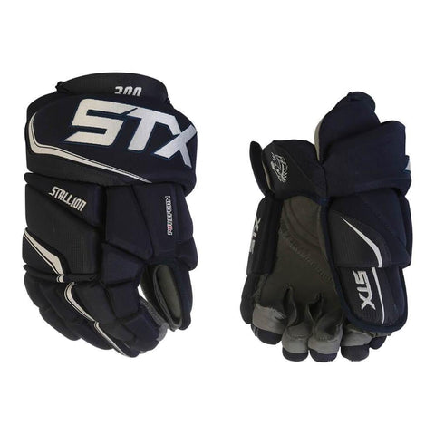 STX STALLION 300 SR HOCKEY GLOVES NAVY/WHITE