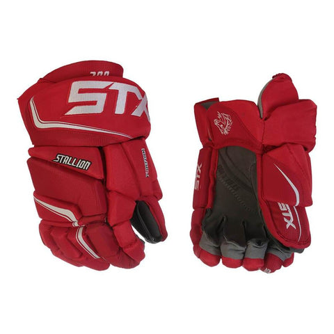 STX STALLION 300 SR HOCKEY GLOVES RED/WHITE