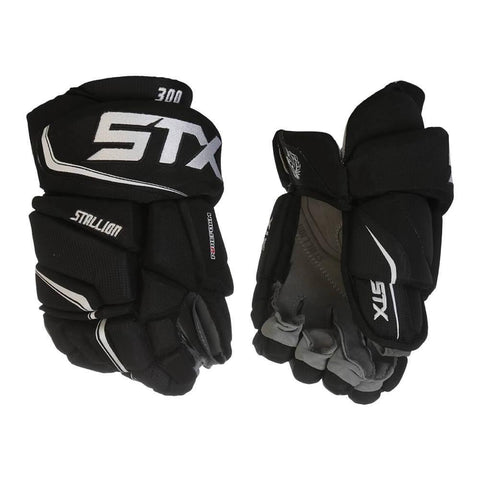 STX STALLION 300 JR HOCKEY GLOVES BLACK/WHITE