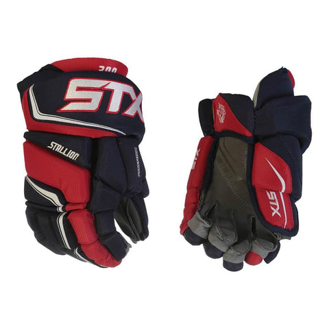 STX STALLION 300 JR HOCKEY GLOVES NAVY/RED