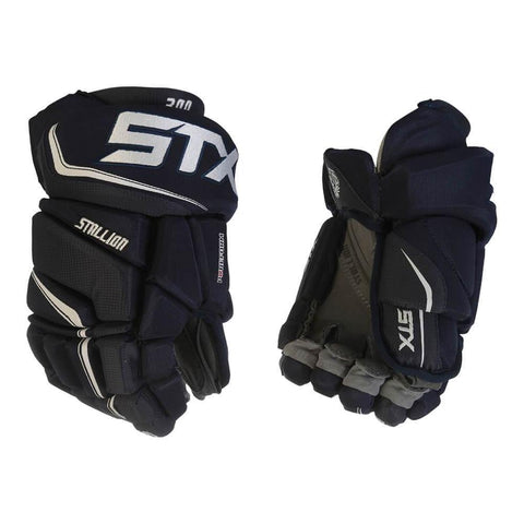 STX STALLION 300 JR HOCKEY GLOVES NAVY/WHITE