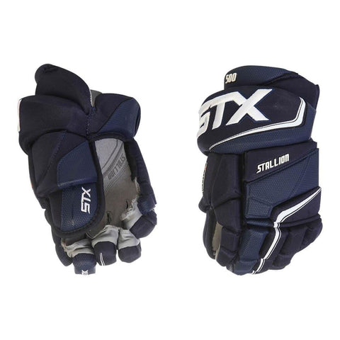 STX STALLION 500 JR HOCKEY GLOVES NAVY/SHITE
