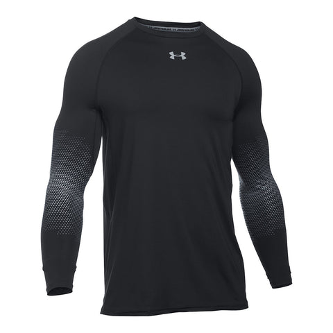 UNDER ARMOUR MENS PURESTRIKE GRIPPY LONG SLEEVE TOP NAVY