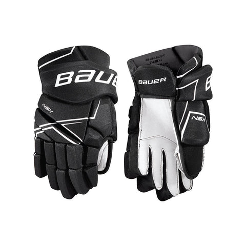 BAUER NSX JR HOCKEY GLOVES BLACK