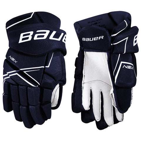 BAUER NSX SR HOCKEY GLOVES NAVY