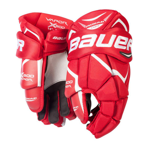 BAUER VAPOR X800 LITE SR HOCKEY GLOVES RED