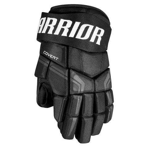 WARRIOR COVERT QRE 4 SR HOCKEY GLOVES BLACK