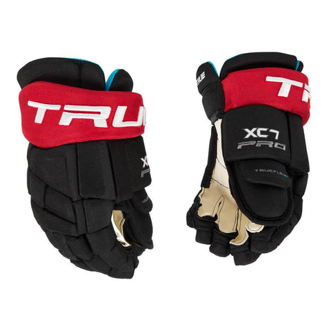 TRUE XC7 SR HOCKEY GLOVES BLACK/RED