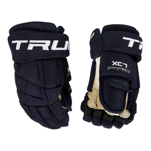 TRUE XC7 JR HOCKEY GLOVES 12 INCH NAVY