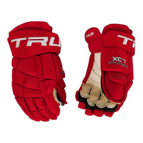 TRUE XC7 SR HOCKEY GLOVES RED