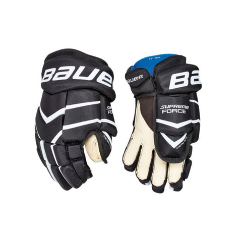 BAUER SUPREME FORCE SR HOCKEY GLOVES BLACK