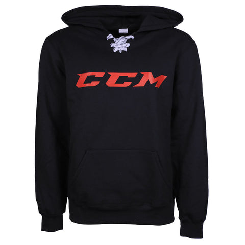 CCM MEN'S FT1 FLEECE HOODY BLACK