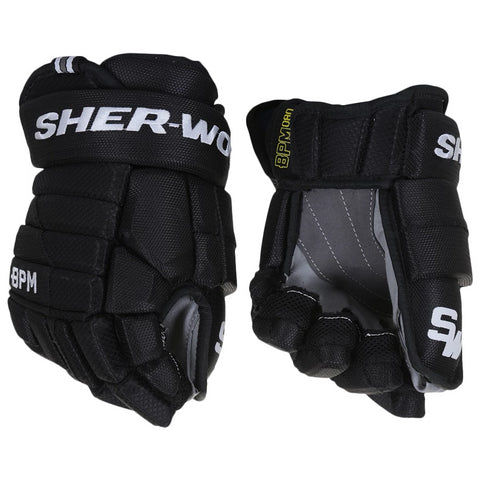 SHERWOOD BPM 080 JR HOCKEY GLOVES BLACK
