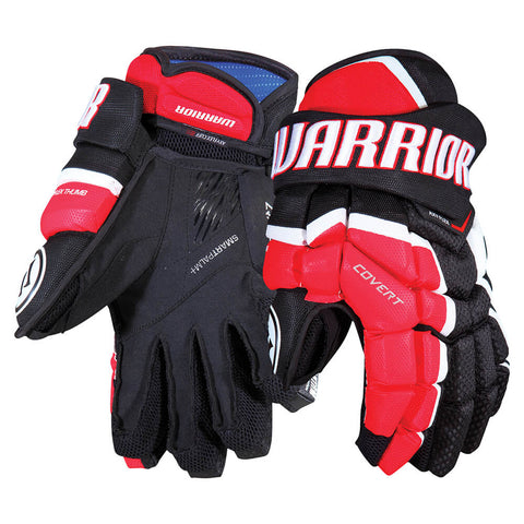 a7c0f6c8679 WARRIOR COVERT QRL SR HOCKEY GLOVES BLACK RED WHITE