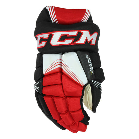 CCM TACKS 7092 SR HOCKEY GLOVES BLACK/RED/WHITE