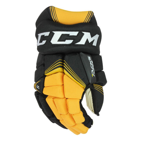 CCM TACKS 7092 SR HOCKEY GLOVES BLACK/SUNFLOWER
