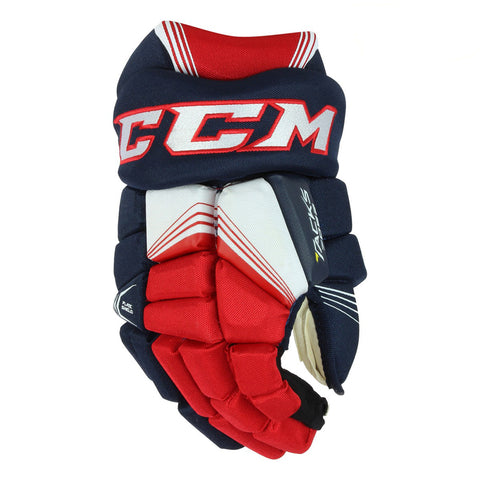 CCM TACKS 7092 SR HOCKEY GLOVES NAVY/RED/WHITE