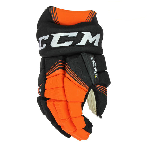 CCM TACKS 7092 SR HOCKEY GLOVES BLACK/ORANGE