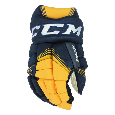 CCM TACKS 7092 SR HOCKEY GLOVES NAVY/SUNFLOWER