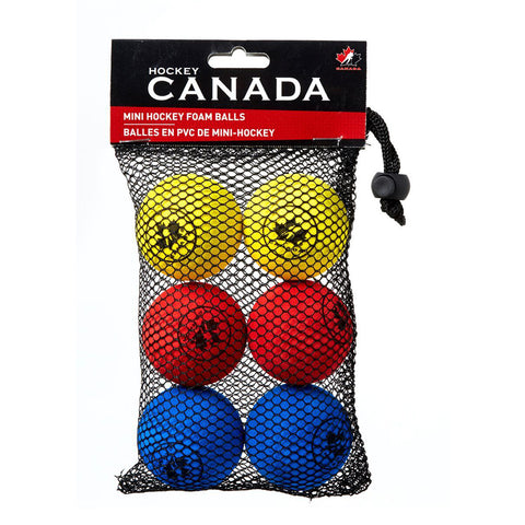 HOCKEY CANADA MINI HOCKEY BALL MULTICOLOUR 6 PACK